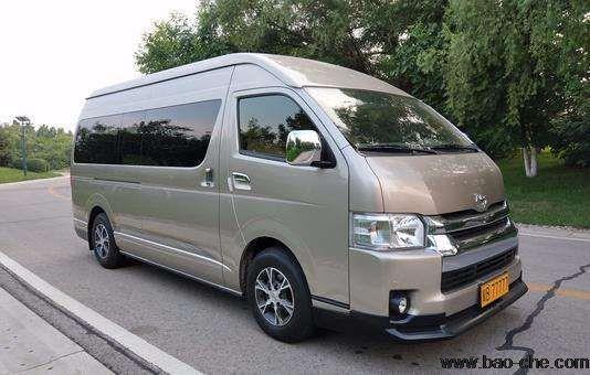 北京新月联合商务车租赁-9座丰田海狮包车一天多少钱?