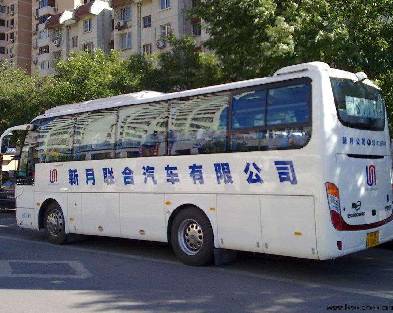 北京新月联合37+2座中型宇通客车包车价格
