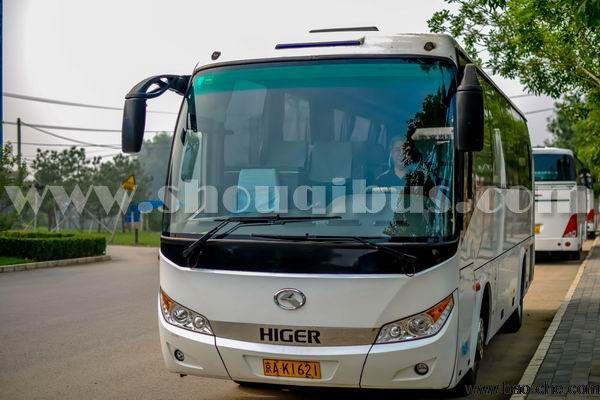 北京会议包车推荐车型:考斯特+金龙客车39座